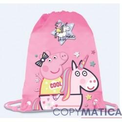 Saco Peppa Pig Unicornio...