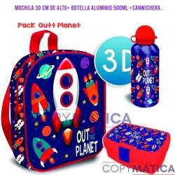 Pack Mochila 3d Outt Planet...