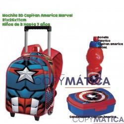 PACK MOCHILA CON CARRO 3D...