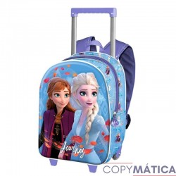 Mochila Con Carro 3D Frozen...