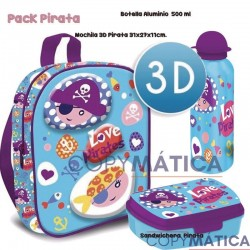 Pack Mochila 3d Pirates...