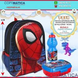 PACK MOCHILA  3D SPIDERMAN...
