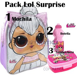 PACK -MOCHILA LOL SURPRISE...