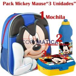 """PACK """"Mochila 3D Mickey..."""