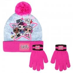Conjunto gorro guantes LOL...